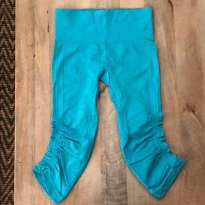 Lululemon In The Flow Crop Legging Turquoise